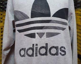 Vintage ADIDAS TREFOIL / Big logo adidas trefoil / Large size sweatshirt (BB024)