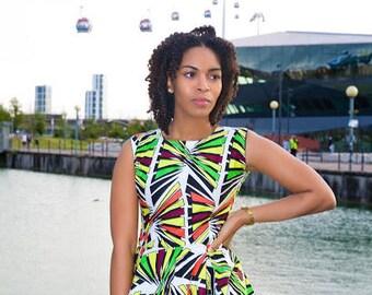 Peplum African print top, African clothing, Ankara top, African top