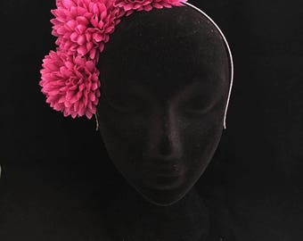 Emeline // Magenta Floral Crown Headpiece