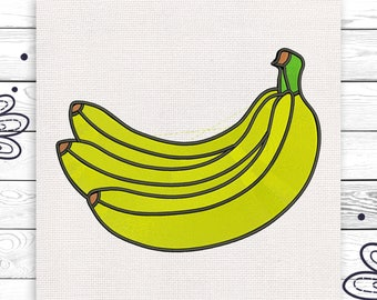 Banana embroidery Discount 10% Digital machine embroidery design 4 sizes INSTANT DOWNLOAD EE5077