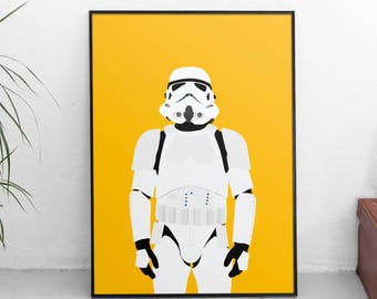 PRINTABLE STAR WARS Art, Wall Art Print,Instant Download Art, Printable Stormtrooper Illustration, Home Decor Print, Handmade Wall Art Print