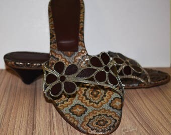 Sandal, leather. unique sandals, comfortable, interesting sandal slippers, flower sandals, shoes