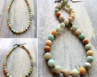 Amazonite & Crystal Necklace