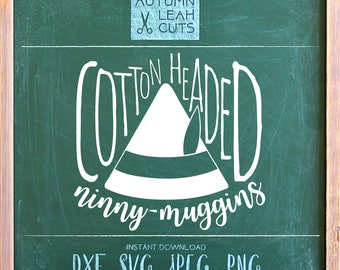 Cotton Headed Ninny Muggins -- SVG, PNG, Jpeg, DXF cut file for Silhouette, Cricut -- Instant Download Clipart - Christmas Printable Art