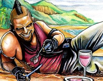 Vaas Montenegro Far Cry 3 Video Game Fan Art 17x11 Print