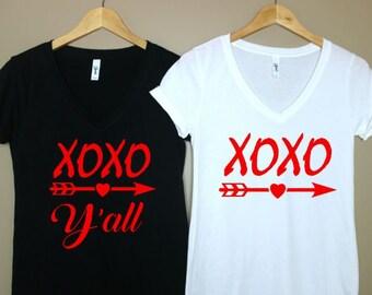 XOXO Shirt-XOXO Yall shirt-Valentines day shirt-Valentine day shirt-Valentines gift-Valentines day gift-Valentines shirt women-Holiday shirt