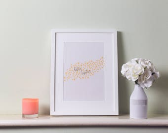 One Year Anniversary // Better Together Art Print // Gifts for Girlfriend // Gifts for Boyfriend // Paper Anniversary Gift