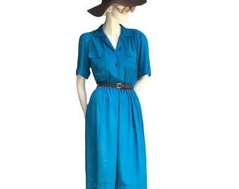 Vintage blue secretary's dress