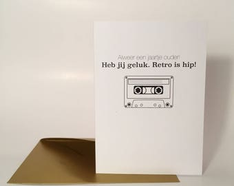 "Greeting Card ""Retro is Hip"""