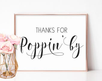 Ready to Pop, Baby Shower Signs, Popcorn Favors Sign, Snack Table Sign, Wedding Popcorn Sign, Popcorn Bar Sign Printable, Baby Shower Decor