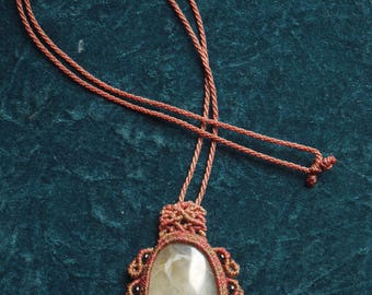 Macrame with an Andean Opal pendant