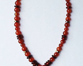 Chinese Zodiac carved agate RABBIT necklace