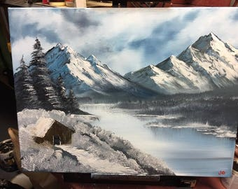 Winter Silence Original 18x24 Oil Painting - 2016