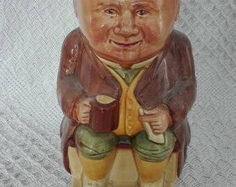 Vintage Woods Ceramic Staffordshire Toby Jug No1 9cm wide by 18cm tall no damage