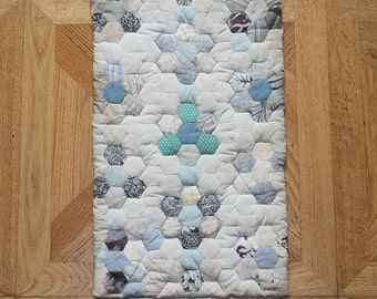 Hexagon patchwork, hand made with love.