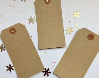 Luggage labels - pack of  10 -  manilla card gift tags - brown tags -unembellished tags -unstrung tags -gift cards - place cards -name cards