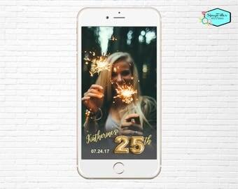 25th Birthday Snapchat Filter Birthday Snapchat Geofilter Party Snapchat 25th birthday Filter Balloon Party Snap Chat  Filter