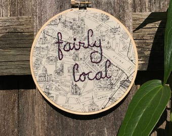 fairly local | embroidery hoop art