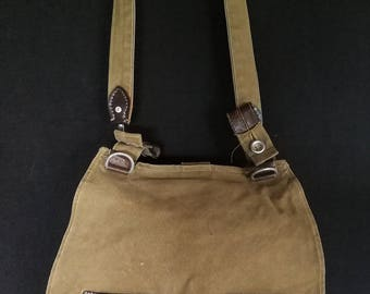 Vintage bread bag Bundeswehr 1962 - German army canvas bag