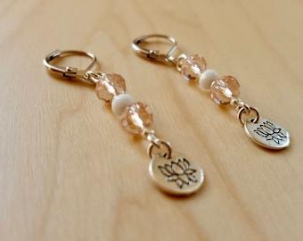 Flower of lotus, lotus flower, zen, yoga, lotus, lotus flower earrings