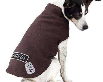 "Dog Corduroy Brown ""Patrol"" Design Wrapper"