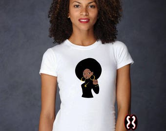 Afrocentric Black Power Woman T-Shirt