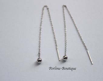 11cm 925 sterling silver ear chains