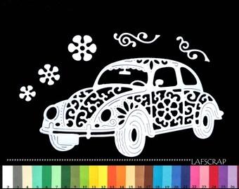 Cut car Ladybug scrapbooking embellishment die cut scrap album deco