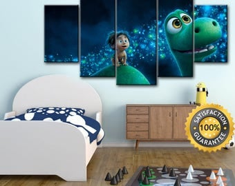 The Good Dinosaur, The Good Dinosaur canvas, Pixar wall art, Pixar canvas, Good Dinosaur canvas, Dino canvas, Dino wall art, Canvas Wall Art