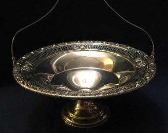ROYAL ROSE Handled Sterling Bon Bon Bowl - by Mueck-Cary Silver Company