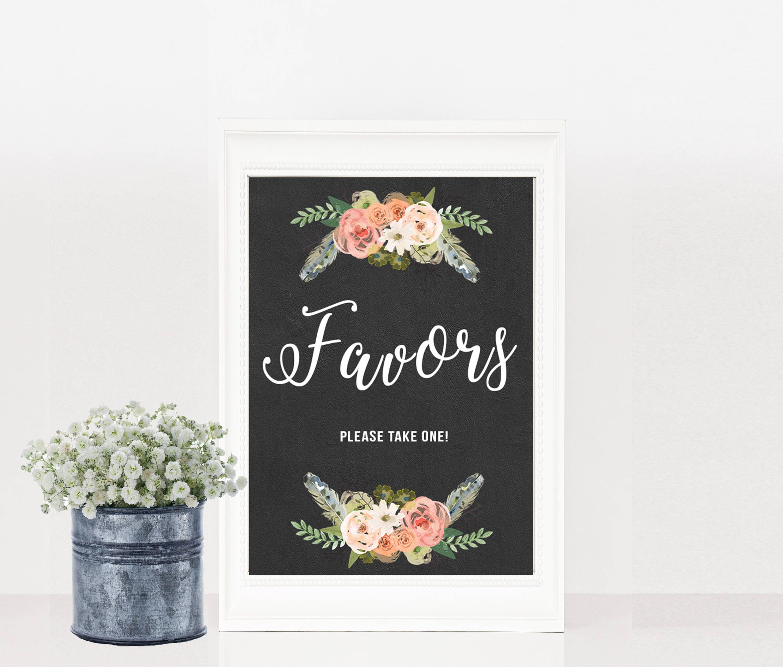 PRINTABLE, Wedding Favours Sign, Wedding Reception Sign, Reception ...