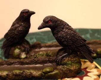Raven Incense Holder