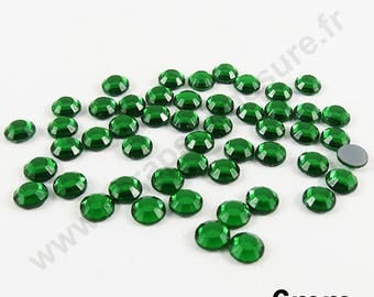Rhinestone Thermo - Pine Green - 6mm - x 25 PCs