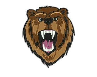 Bear embroidery design - Machine embroidery  design