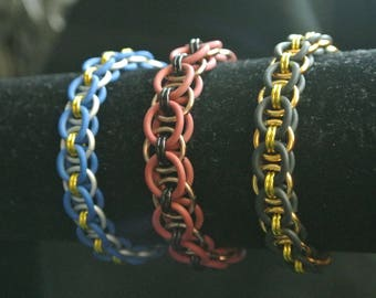 chainmaille helm bracelets