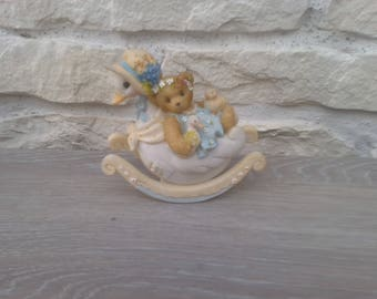 Home decor trinket child bear goose