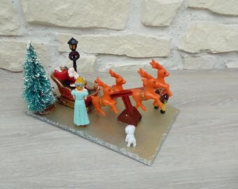 Christmas diorama handmade Father Christmas Decoration
