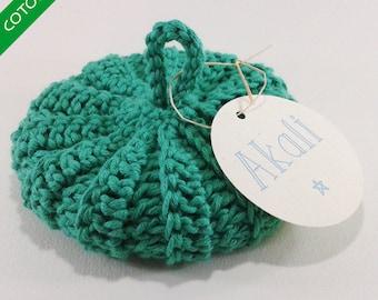 Cotton Tawashi organic mint green 10 cm