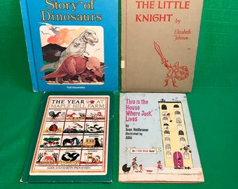 Vintage children's books lot of 4 1950's-1980's