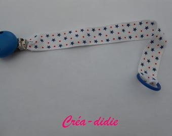Pacifier clip stars