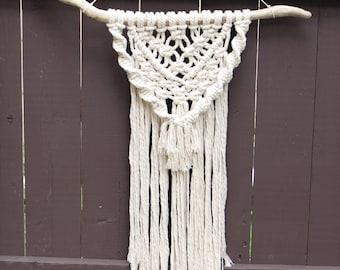 Cotton + Driftwood Macrame Wall Hanging