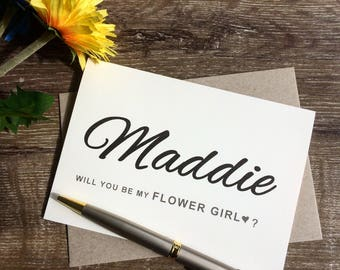Will you be my Flower Girl card, To my Flower Girl card, Personalised will you be my Flower Girl, Flower Girl gift, to my junior bridesmaid