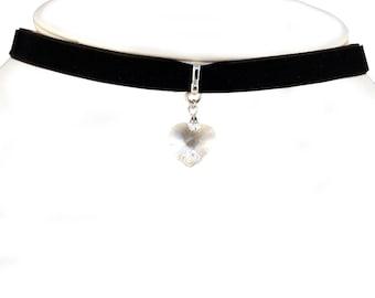 Swarovski Crystal heart Choker