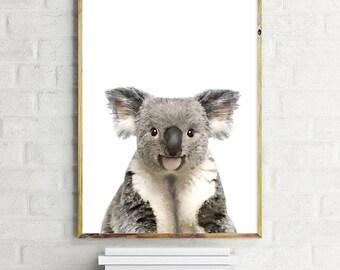 Koala Illustration, Koala Print, Koala Art, Cute Animal, Koala Poster, Kids Wall Art, Nursery Art, Nursery Decor, Cute Koala, Wall Art Decor