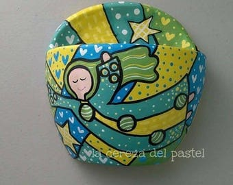 Hand painted clay pot