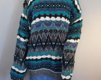 80s 90s Concrete Mix Brand Sweater Size XL coogi style