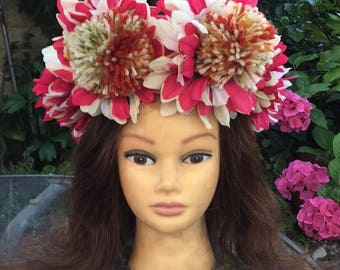Pom Pom Flower Fairy Headdress