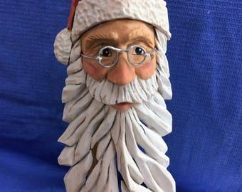 Santa wood carving