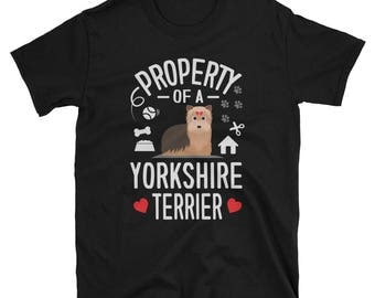 Yorkshire Terrier Shirt Property Of A Yorkshire Terrier Gift T-Shirt