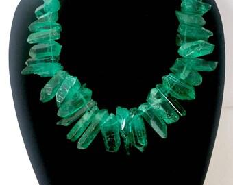 Emerald Green Crystalline Necklace